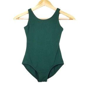 3/$25 CAPEZIO Dark Green Dance Leotard Girls L